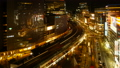 东京银座有乐町时间流逝从晚上风景的夜景从动态移动的大城市的面部表情长时间拍摄修复 42645079