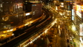 东京银座有乐町时间流逝从晚上风景的夜景风景狭窄的大的城市的都市风景的表现 42645080