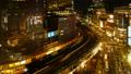 东京银座有乐町时间流逝从晚上风景的夜景放大在动态的大城市的都市风景 42645081