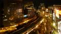 东京银座有乐町时间流逝夜景从晚上景观大城市的面部表情是动态变焦侯 42645082