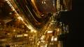 东京银座有乐町时间流逝从傍晚风景夜景的大城市的面部表情 42645084