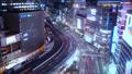 东京银座有乐町夜景时间流逝狭窄 42645145