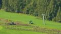 Farmers work in the fields in South Tyrol 42650441