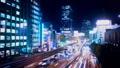 東京夜景·澀谷·時間流逝·資本高速擁堵顏色分級 42881355