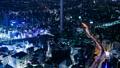 東京夜景·時間流逝·各種交通系統交叉的大城市的象徵形象·池袋·縮小 42883636