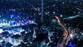 東京夜景·時間流逝·各種交通系統交叉的大城市的象徵意象·池袋·放大 42883637