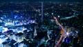 東京夜景·時間流逝·各種交通設施交叉的大城市的象徵形象·池袋·FIX 42883638