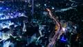 東京夜景・タイムラプス・様々な交通機関が交差する 大都会のシンボリックイメージ・池袋・ナロー 42883639