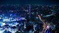 東京夜景·時間流逝·跨越各種交通的大城市的象徵意象·池袋·向下傾斜 42883640