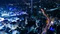 東京夜景・タイムラプス・様々な交通機関が交差する 大都会のシンボリックイメージ・池袋・パン 42883641