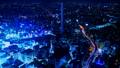 東京夜景·時間流逝·跨越各種交通的大城市的象徵意象·池袋·卡拉格雷 42883642