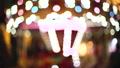 Blur kid playing on Carousel and bokeh of light at night. 42895603
