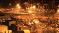 配送基地東京青海集裝箱碼頭夜景時間推移傾斜下來 42940100