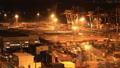 配送基地東京奧米集裝箱碼頭夜景時間推移變焦 42940103