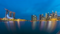 Day to Night time Lapse video of Singapore city 42991806