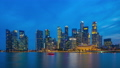 Day to Night time Lapse video of Singapore skyline 42991807