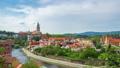 Timelapse video of  Cesky Krumlov skyline in Czech 42991813