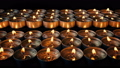 Passing Rows Of Small Candles 43009794