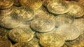 Magical Sparkling Gold Coins 43009795