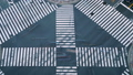 东京·争夺交叉点·银座·塞尔亚桥·时间流逝·向下倾斜 43057519