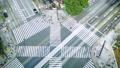 Tokyo · Ginza · Seiyabashi crossing · Time lapse · August holidays · zoom in left bottom New landmark Sony Park 43057556