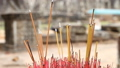 Buddhism. Aromatic sticks in temples and pagodas of Asia 43208220