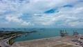싱가포르 해협을 왕래하는 배와 구름의 흐름 타임 랩스 43263716