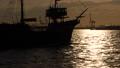 大阪湾日落风景天空云海山夏天风景蓝天自然晴朗的观光的小船大阪大阪 43282154