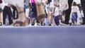 渋谷スクランブル交差点を歩く人々の足元_スロー 43301115