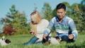 couple, dog, outdoor 43301546