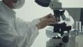 顕微鏡観察を行う男性研究者 43362811