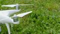 Drone propeller turns on preparing for flight  43365926