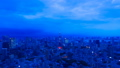 Tokyo ・ Timelapse ・ Tokyo Tower and the big city night view from twilight long time shooting summer thunderstorm Tilt down 43403232