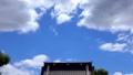 神社の屋根と春空_03-1353 43461787