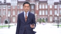ミドルビジネスマン 出張 東京駅 ビジネスイメージ 43536161