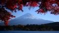 Autumn leaves by Lake Kawaguchi and Mt. Fuji -6004849 43546863