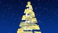 CGのクリスマスツリー 青背景 43632192