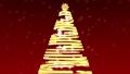CGのクリスマスツリー 赤背景 43632194