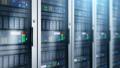 Server room interior in datacenter 43672811