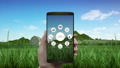 Smart agriculture farming, IoT icon in mobile 1 43676936