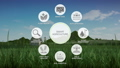 Smart agriculture farming, IoT information icon 1. 43676937
