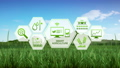 Smart agriculture farming, IoT information icon 2. 43676939