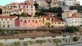 Aerial: flying around Cervo medieval town on the m 43688827
