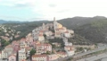 Aerial: flying around Cervo medieval town on the m 43688830