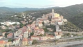 Aerial: flying around Cervo medieval town on the m 43688831