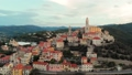Aerial: flying around Cervo medieval town on the m 43688832