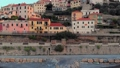 Aerial: flying around Cervo medieval town on the m 43688833