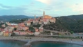 Aerial: flying around Cervo medieval town on the m 43688835