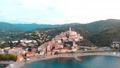 Aerial: flying around Cervo medieval town on the m 43688836