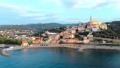 Aerial: flying around Cervo medieval town on the m 43688839